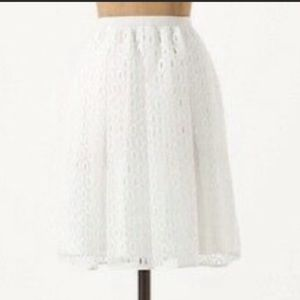 Anthropologie   Maeve White Skirt With Pockets